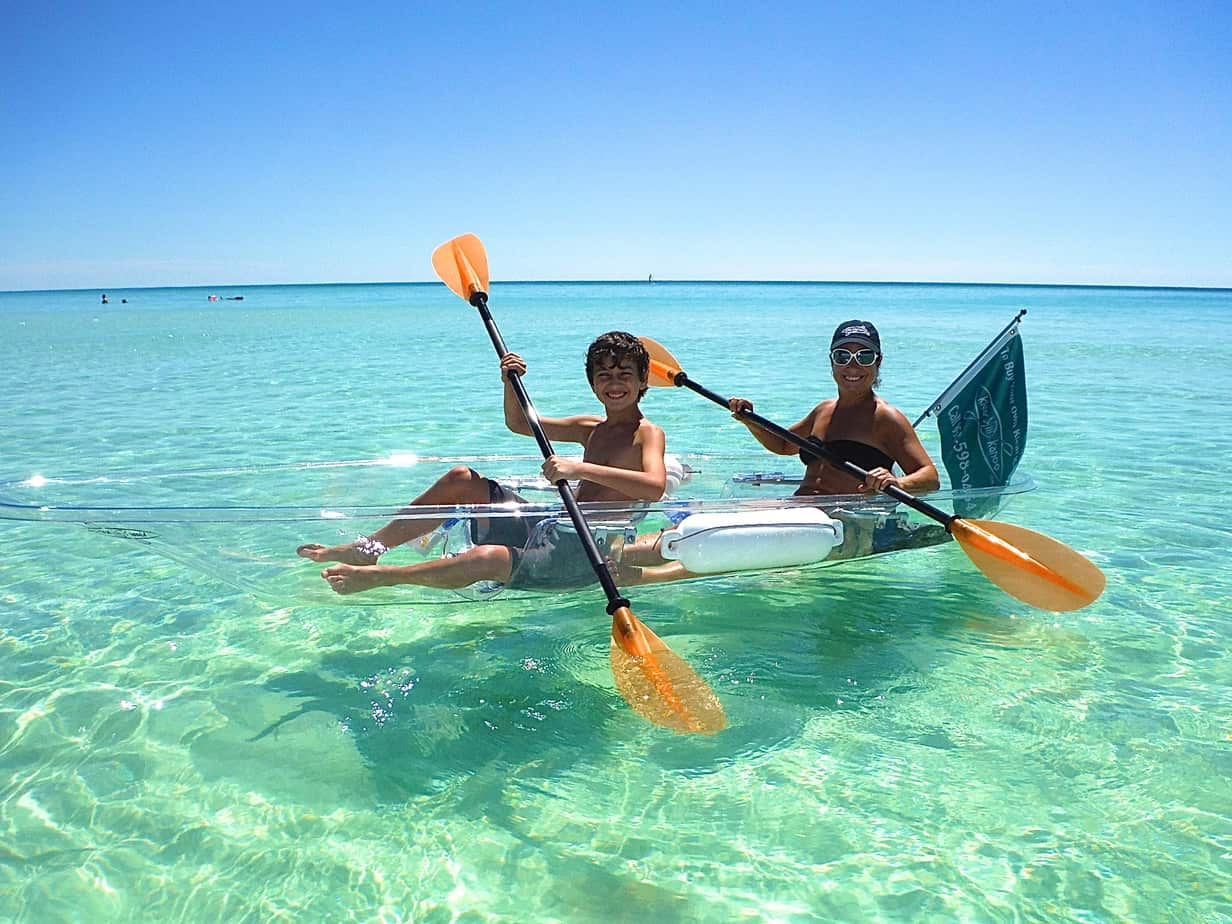 Beachside Motorsports - Panama City Beach Kayak Rentals - see thru kayaks